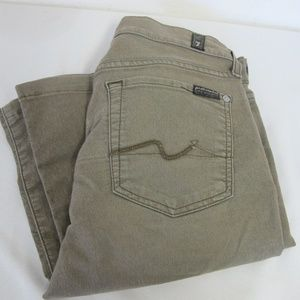7 FOR ALL MANKIND OLIVE KHAKI JEANS PANTS